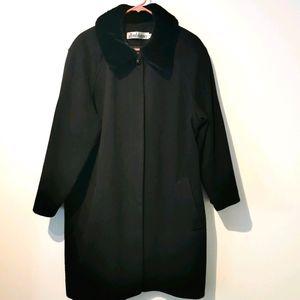 Vintage Alfred dunner s18 black wool coat